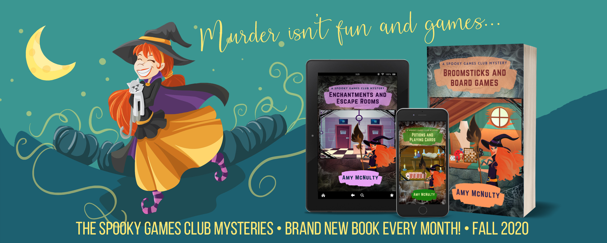 The Spooky Games Club Mysteries by Amy McNulty, releasing monthly through November