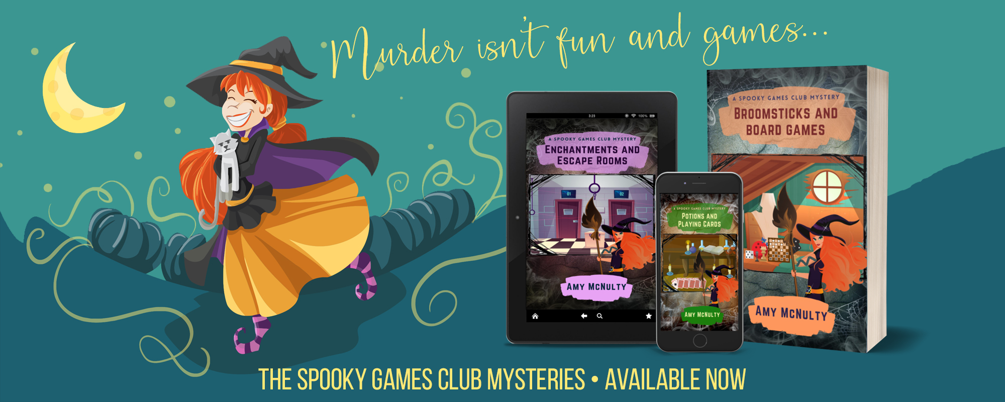 The Spooky Games Club Mysteries by Amy McNulty, available now
